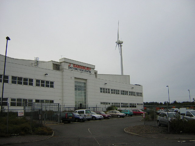 Sainsbury Wind Turbine, East Kilbride