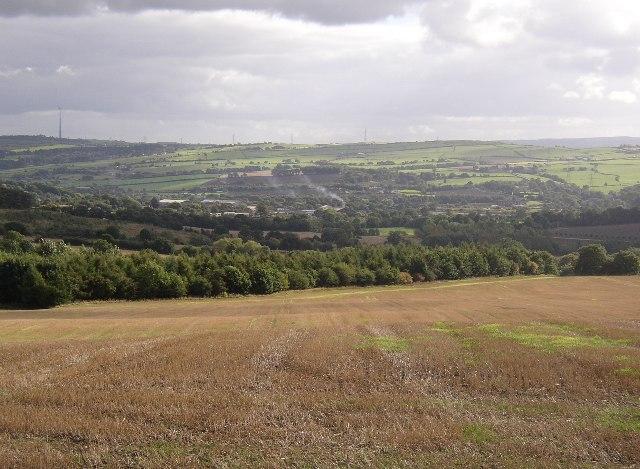 Field, Hollin Wood and the Calder valley, Hartshead