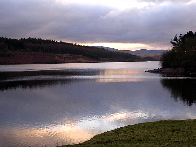 The Usk reservoir