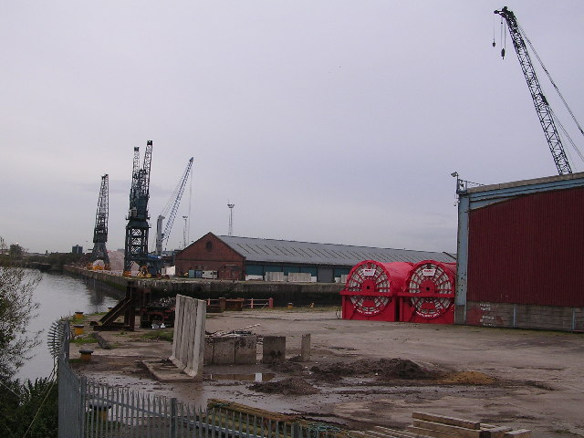 Entrance to King George V Dock, River Clyde