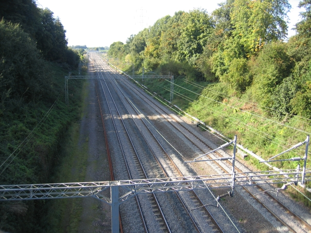 West Coast Main Line near Easenhall