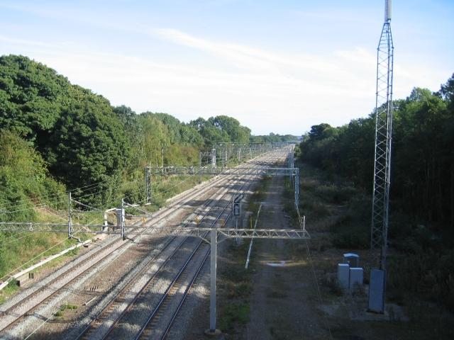 West Coast Main Line near Easenhall