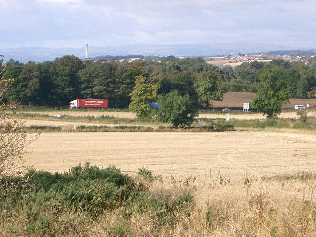 Farmland and roads