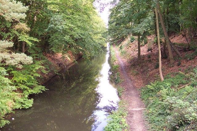 The Basingstoke Canal at Deepcut