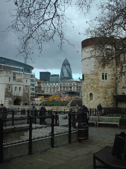 The Tower of London and the Swiss Re building