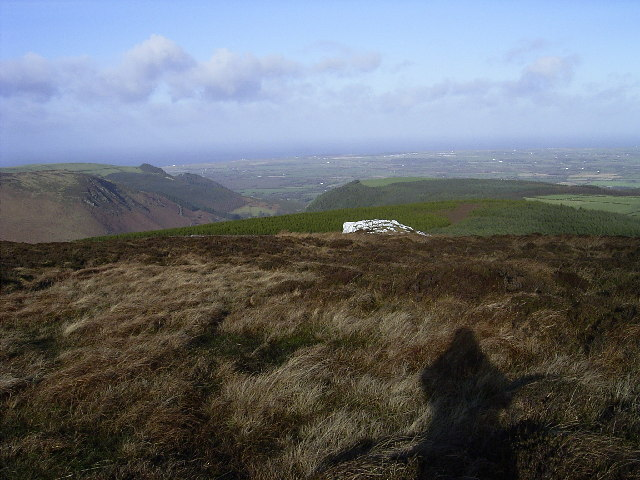 Creg Bedn or Creg Bane (White Rock) on Slieau Managh