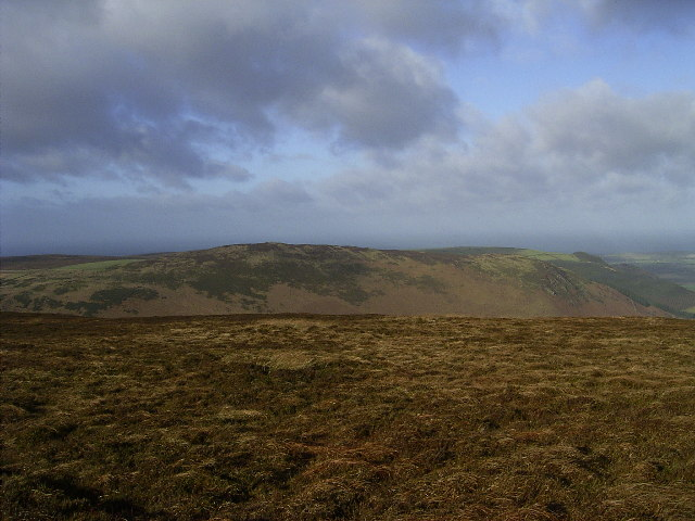 The view west from Slieau Managh Summit (383m)