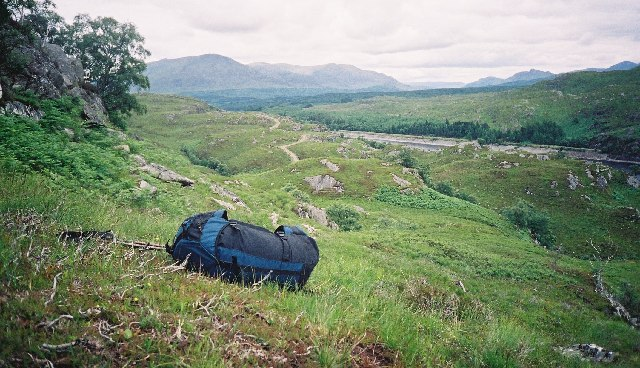 The foot of Loch Treig, Glen Spean and the hill to the north