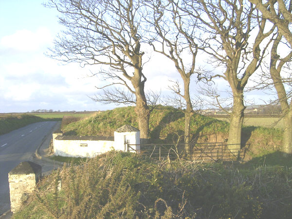 Ballavarry Burial Mound, Andreas