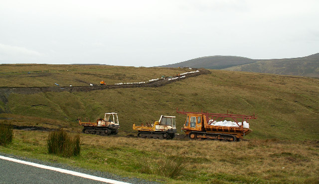 Pipe-laying near the Brandywell Road