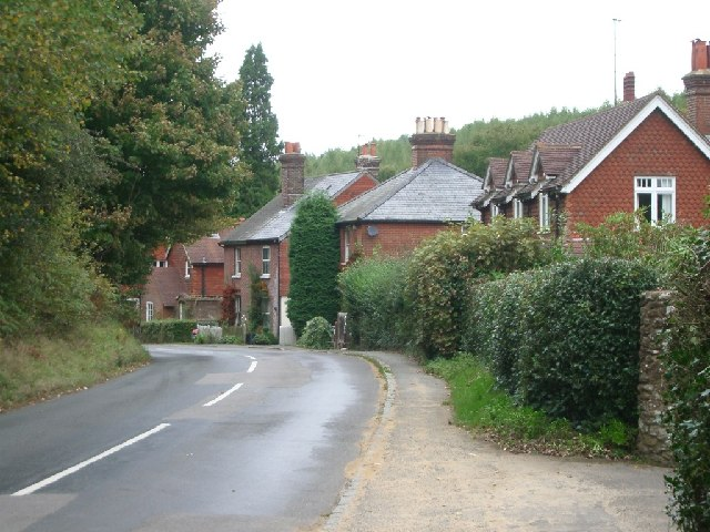 Houses to the east of Horsham Road, Holmbury St Mary