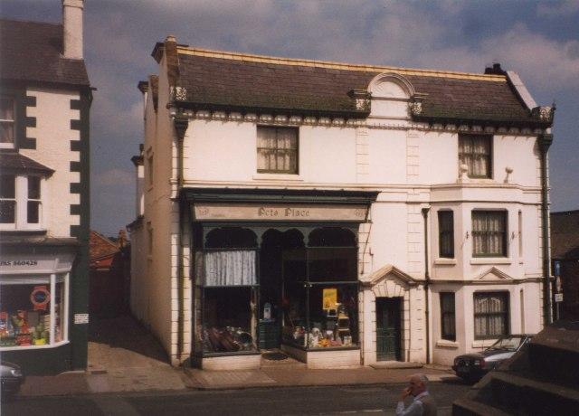 Giant shop front, Malpas