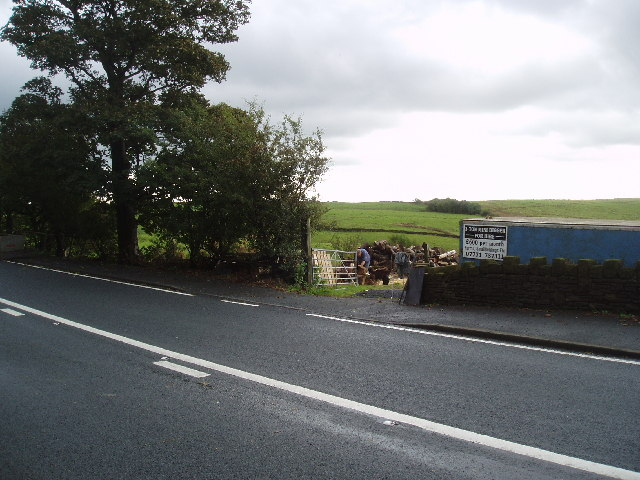 A roadside trader by the A680 near Turn Village, Lancashire