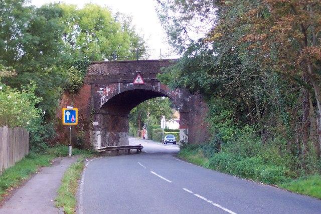 Railway bridge near Christmas Pie