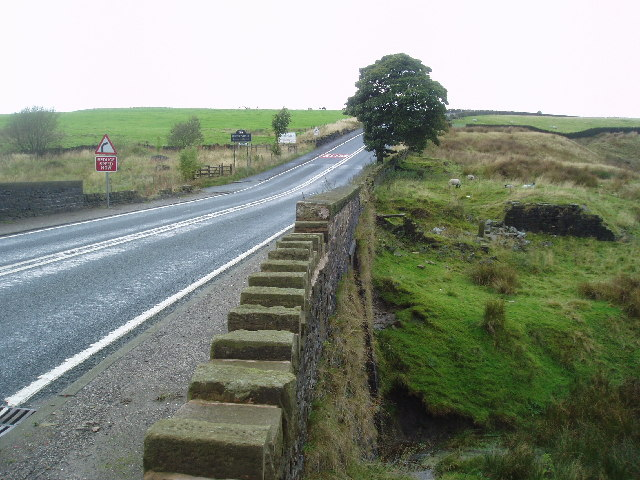 Cheesden Bridge on A 680 in Lancashire