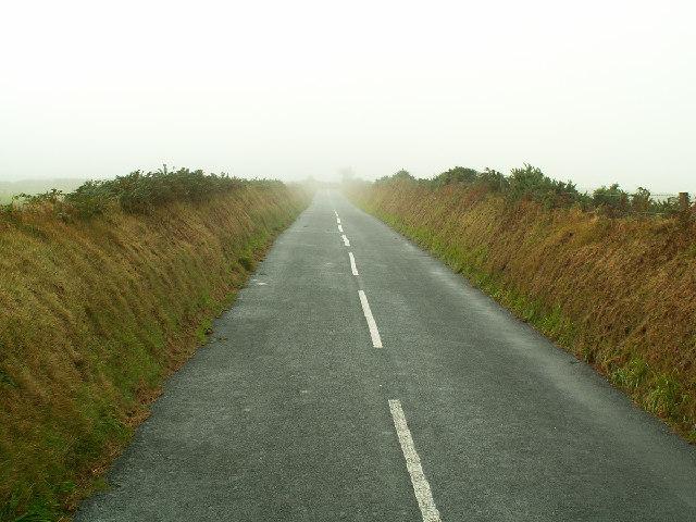 Misty morning on the Begoade Road