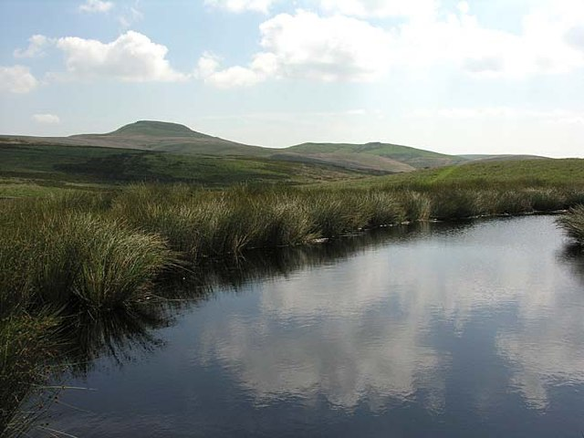 Pond on moors near Oakenclough