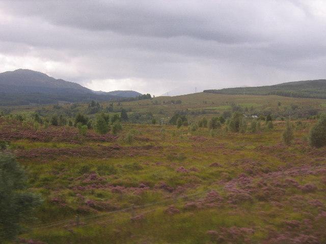The terrain around the Commando Memorial, looking west