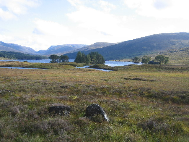 Loch Ossian from the estate road near the path to Loch Treig