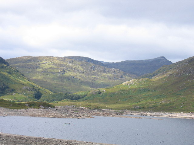 The head of Loch Treig with Stob Ban on the horizon
