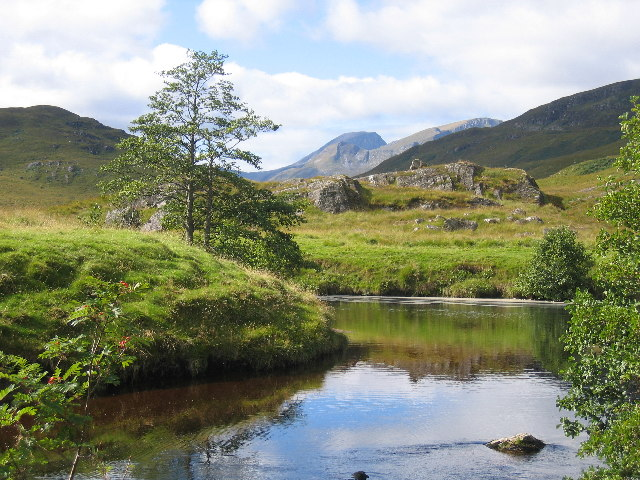 The pool above Staoineag Bothy and Ben Nevis