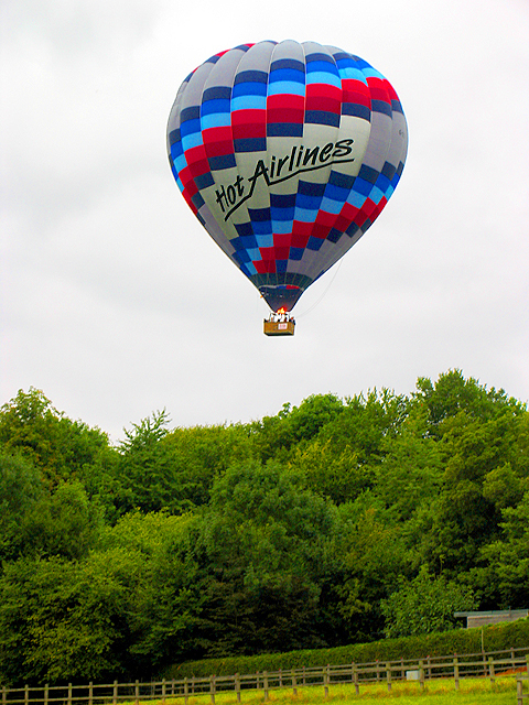 Hot Air Balloon over a Woolhampton Paddock