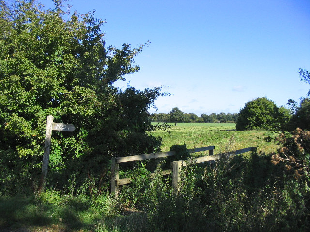 Footbridge and footpath, Stock, Essex