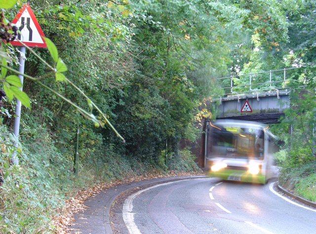 Railway bridge in suburban Horsham, West Sussex