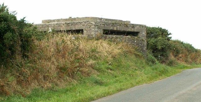 World War II Pill-Box near Jurby Aerodrome