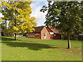 SU9182 : Taplow village hall and village green by David Hawgood
