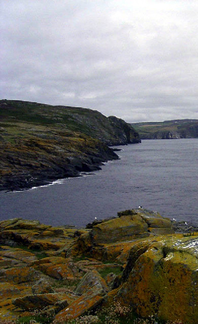 View across South Harbour on the Calf of Man