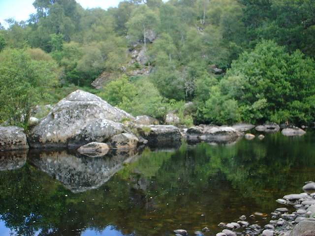 Small pool on the Faragaig river above Foyers