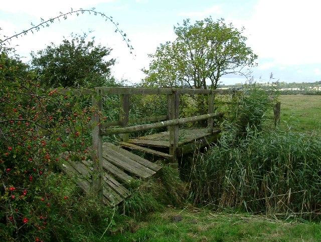 Broken Footbridge in Vange Marsh