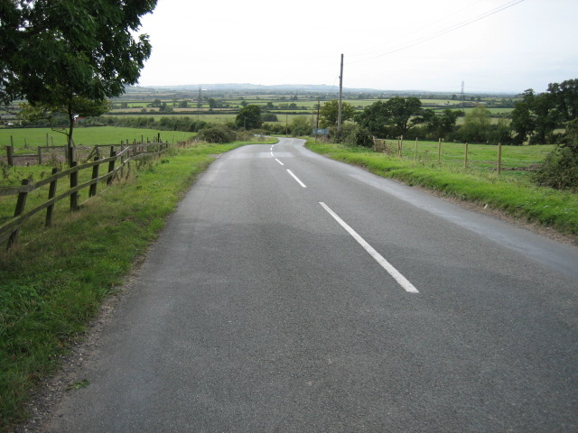 Road near Pitchcott looking south