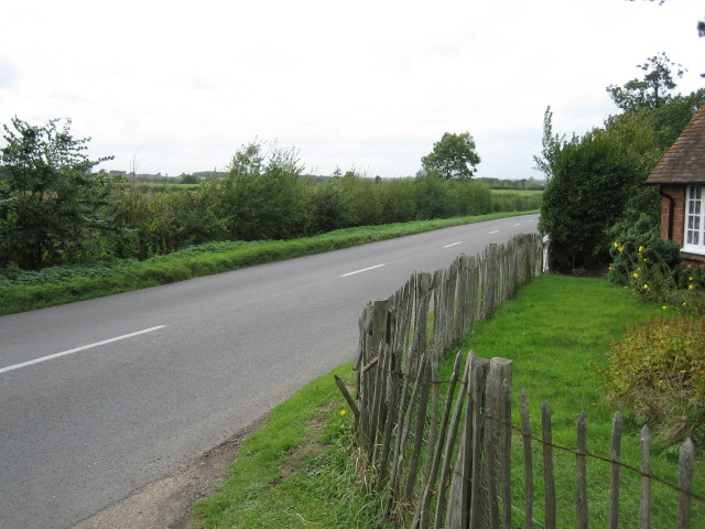 Road heading west from south entrance to Claydon House