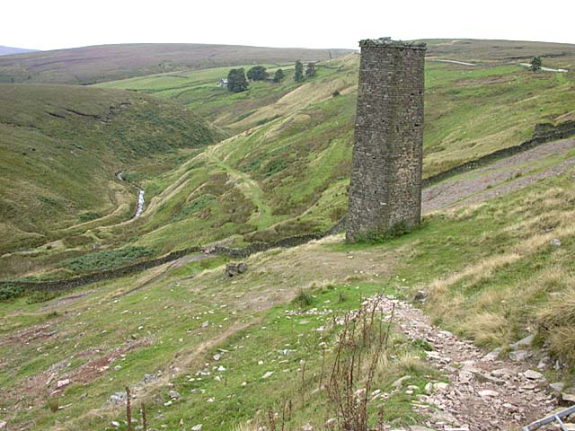 Dane Bower colliery chimney