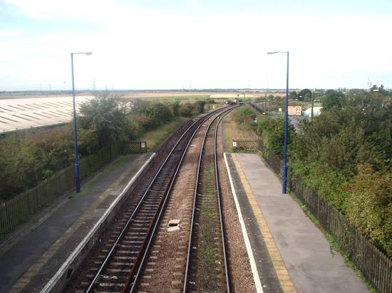The view West from Althorpe Station Footbridge