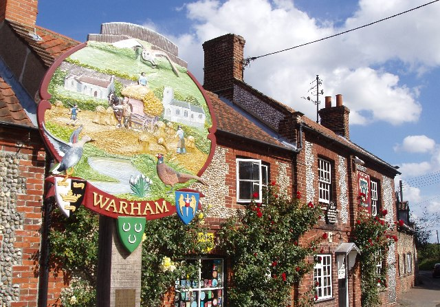 Village sign, Warham, North Norfolk