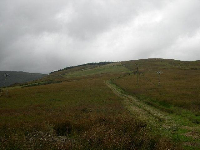 Hills above Saddel Glen.