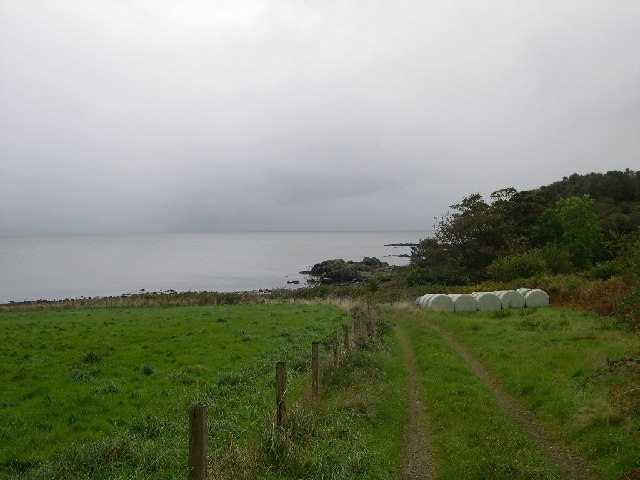Farm track leading down to the sea, Ugadale, Kintyre.