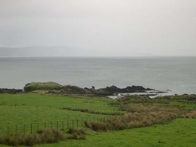 Site of dun on Ugadale Point, Kintyre.