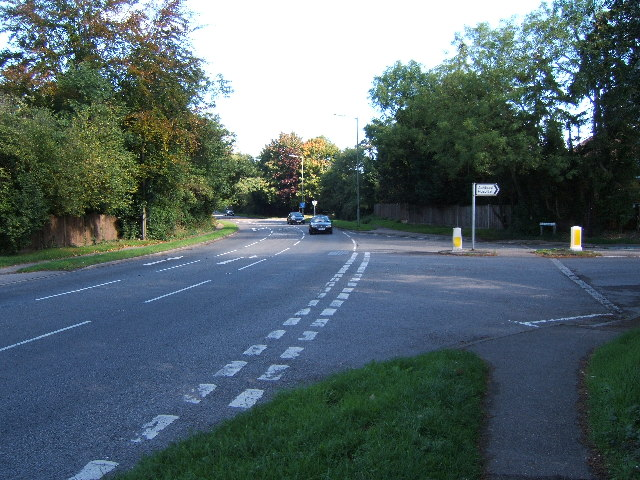 A24 at the junction with The Warren