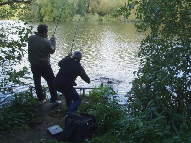 Angling on Bay Pond