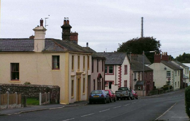 Housing on the southern approach to Wigton town centre