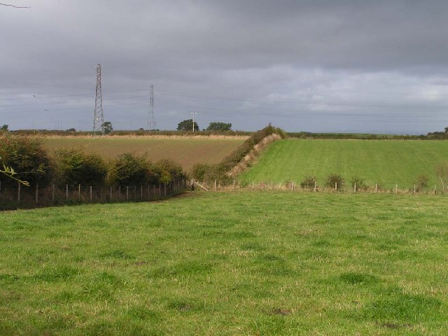 Open countryside between Wigton and Waverbridge, from the B5302