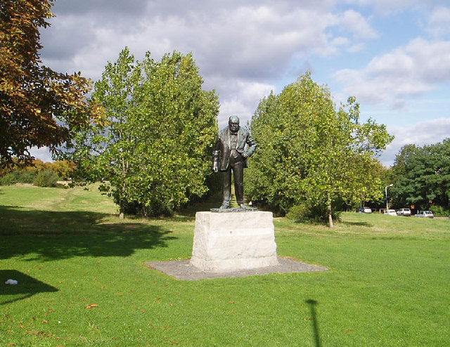 Statue of Winston Churchill on Woodford Green