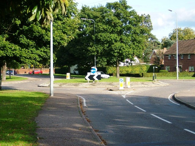 Roundabout  in Coldnailhurst Avenue, Bocking, Braintree