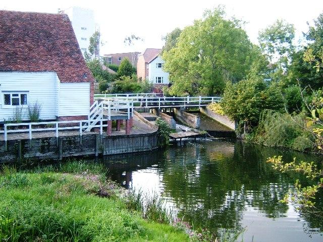 Mill Pond at Bocking Bradfordstreet Mill, Braintree