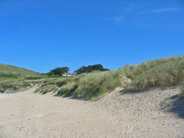 Sand dunes. Beach north of Rock