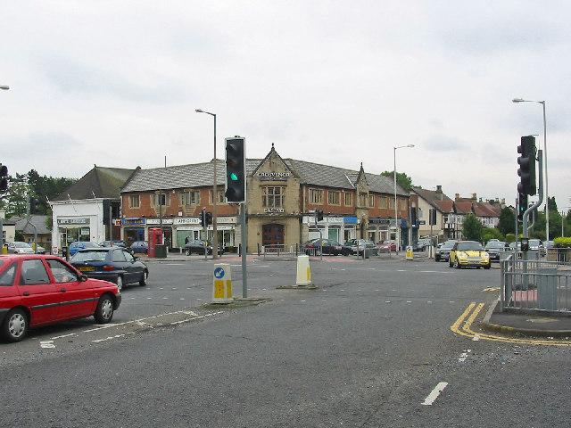 Street scene, Moortown corner, Leeds.